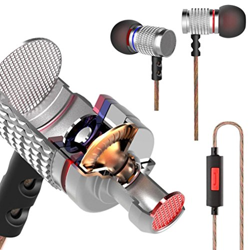 Iusun Original KZ-EDR2 3.5mm HIFI In Ear Metal Earphone Headphones Headset with Microphone - Sunglasses Hi-fi Electric