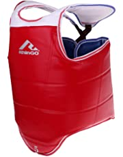 Perfeclan Boxeo Transpirable Protector De Pecho De Taekwondo Adultos Niños Cuerpo Cofre Cintura Guardia