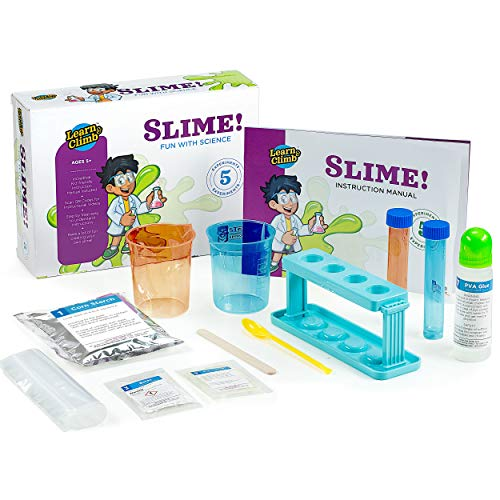 Chemistry Set for Kids 5-10 - Science Slime Lab kit with 6 Experiments. Step-by-Step Instruction Manual