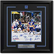 1993 Toronto Maple Leafs 11 Player Team Signed Playoff Goal 27x27 Frame #/93