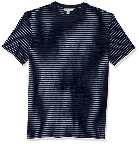 - Calvin Klein Jeans Men's Short Sleeve T-Shirt Crew Neck with True Indigo Stripe, L