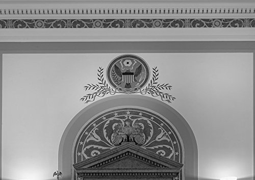 24 x 36 B&W Giclee Print of Mural, Texarkana U.S. Post Office and Federal Building 2013 Highsmith 01a