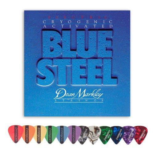 - Dean Markley 2562 Blue Steel MED Electric Guitar Strings (0.11-.052) Includes Pick Sampler