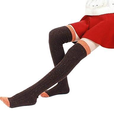 70ee8da6c06 LifeWheel Women Knee High Wool Long Dress Crew Socks for Student Thick  Autumn Winter Cute Casual  Amazon.co.uk  Clothing
