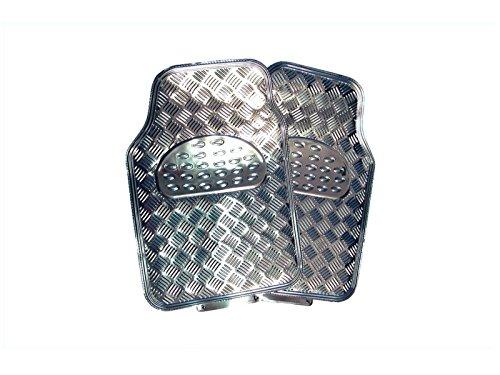 Universeller Gummi-Fu/ßmatten-Satz Riffelblech-Design Silber Preishammer