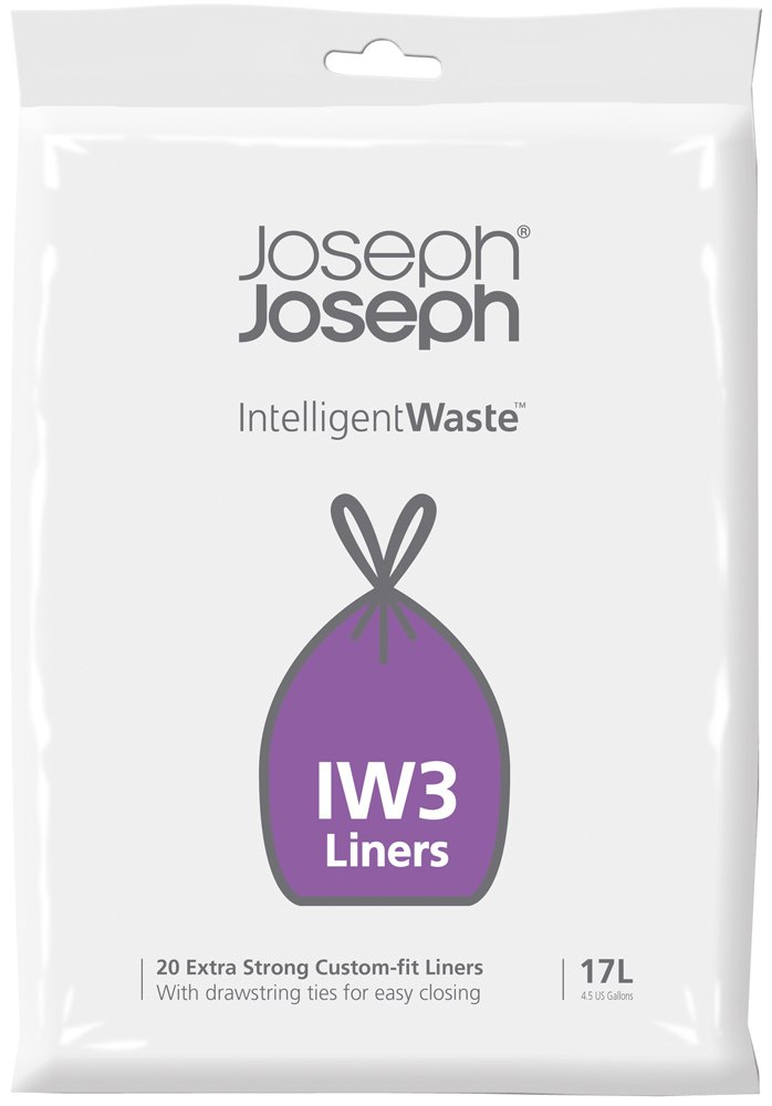Joseph Joseph Sacchetti 17 Litri, Plastica, Trasparenti 30026