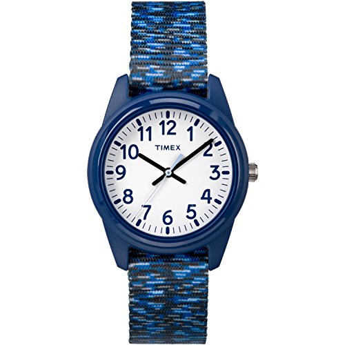 - Timex Boys TW7C12000 Time Machines Dark Blue/White Sport Elastic Fabric Strap Watch