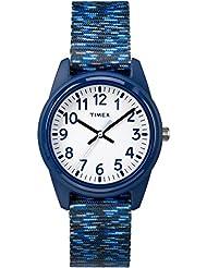 Timex Boys TW7C12000 Time Machines Dark Blue/White Sport Elastic Fabric Strap Watch