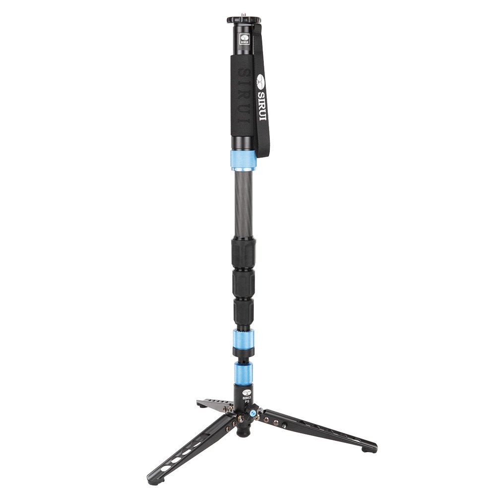 Sirui 6952060001753 P-424SR Carbon Fiber Photo/Video Monopod, Extends to 75'', Supports 26.5 lb, Gray by Sirui