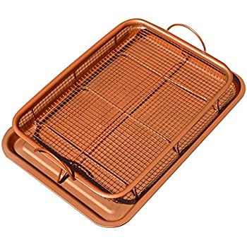 Amazon Com Gotham Steel Nonstick Copper Crisper Tray