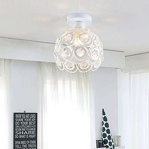 Retro Crystal Chandelier Ceiling Pendant Light Chandelier Crystal Luxury Antique Style guestroom Light Fashionable Lighting Ceiling 60W E27 for Northern Europe Room (White)