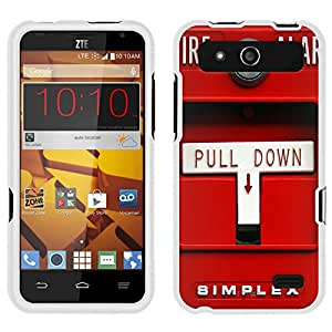 ZTE Speed Case, Snap On Cover by Trek Red Fire Alarm Pull Down Case