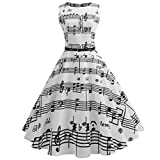 Software : Women's Vintage Audrey Hepburn 50's Inspired Rockabilly Swing Cocktail Mini Dress (S, JY11666)