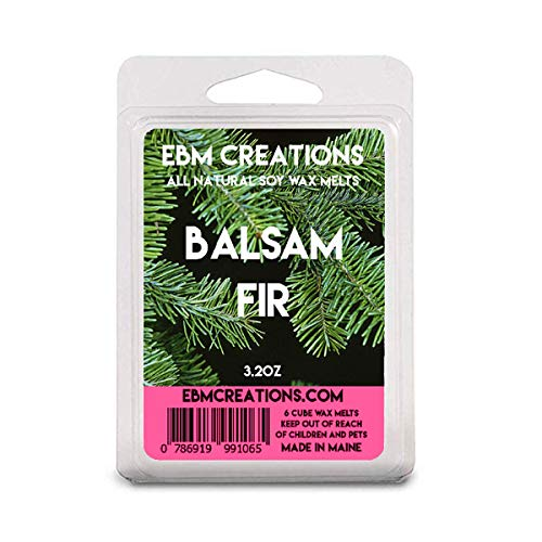 Balsam Fir - Scented All Natural Soy Wax Melts - 6 Cube Clamshell 3.2oz Highly Scented!