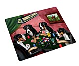 Home of Greater Swiss Mountain 4 Dogs Playing Poker Art Portrait Print Woven Throw Sherpa Plush Fleece Blanket (37x57 Sherpa)