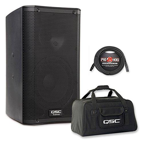QSC K8 8-Inch 1000 Watt Powered PA Speaker + Tote Bag