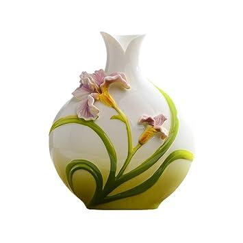 Amazon De Muliware Hp Keramik Vase Weisser Emaille Chinesische Mobel