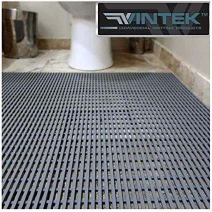 VinAir Pool, Locker Room, Shower, Patio or House and Office Entrance Water draining Floor mat by VinTek 4×12, Grey