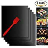 BBQ Grill Mat,Kyson Non-Stick Barbecue Grill Mat Baking Mats Heat Resistant Reusable Barbecue Sheets (Black)