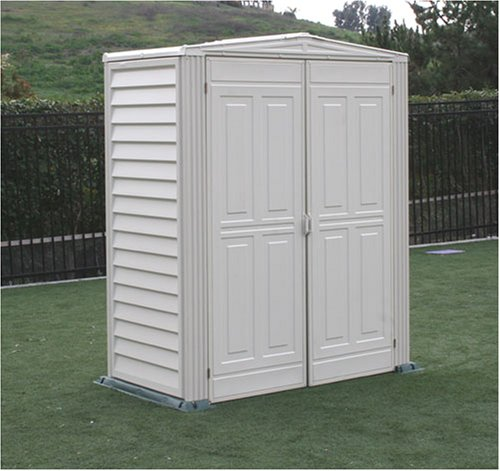 Duramax model 00911 5x3 yardmate vinyl storage shed with for Garden shed uae