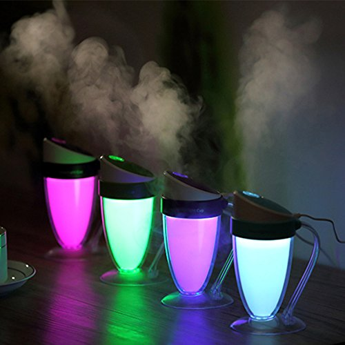 Autumn Water 110ML Humidifier Aromatherapy Diffusers Colorful LED Humidifier for Home Office School Car Humidifiers Mist Maker
