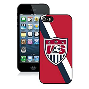 Popular iPhone 5 5S Case ,Unique And Lovely Designed With USA Soccer 3 Black iPhone 5 5S High Quality Cover
