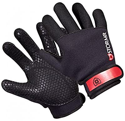 Stormr Stryker Men and Women Durable Yet Comfortable Fishing Glove with Premium Micro-Fleece Lined 2MM Neoprene: Best Used for Ice Fishing, Winter Conditions, and Foul Weather