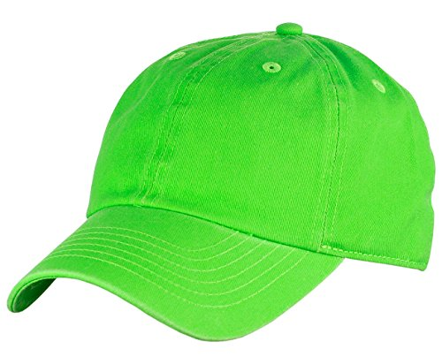 NYFASHION101 Unisex Adjustable 6-Panel Low-Profile Baseball Cap LOW100- Neon (Neon Hat)