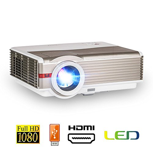 LED LCD Video Projector 4200 Lumen Multimedia HD Home Theater Outdoor Projectors 1280x800 Native Dual HDMI USB VGA Support WUXGA 1080P for TV PC Laptop DVD Media Player Wii Xbox