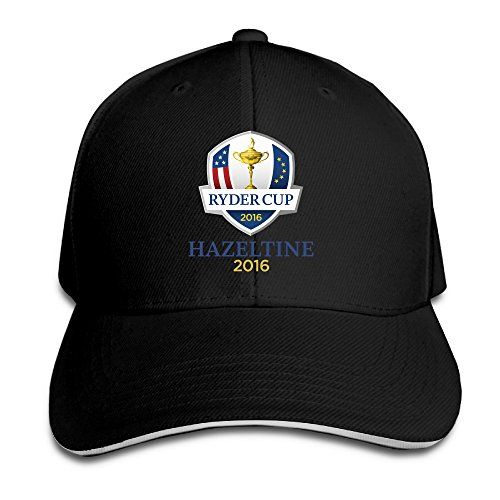 OKBEN RYDER CUP HAZELTINE 2016 Adult Peaked Baseball Caps/Snapback Hats Black