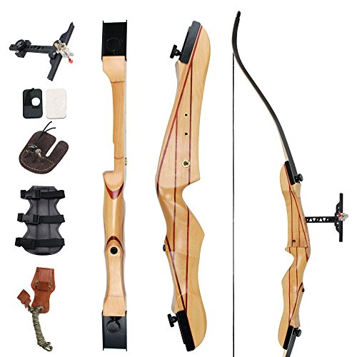 SinoArt 68' Takedown Recurve Bow Adult Archery Competition Athletic Bow Weights 18 20 22 24 26 28 30 32 34 36 LB Right and Left Hand Archery Kit for Outdoor Training Shooting (18 LBs, Left Hand)