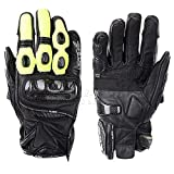 QARYYQ Gloves All Refer to Anti-Fall Summer Men and Women Locomotive Off-Road Racing Riding Carbon Fiber Gloves Gloves (Color : Green, Size : M)