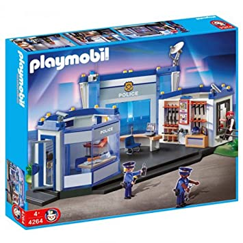 amazoncom playmobil police headquarters toys games - Playmobile Police