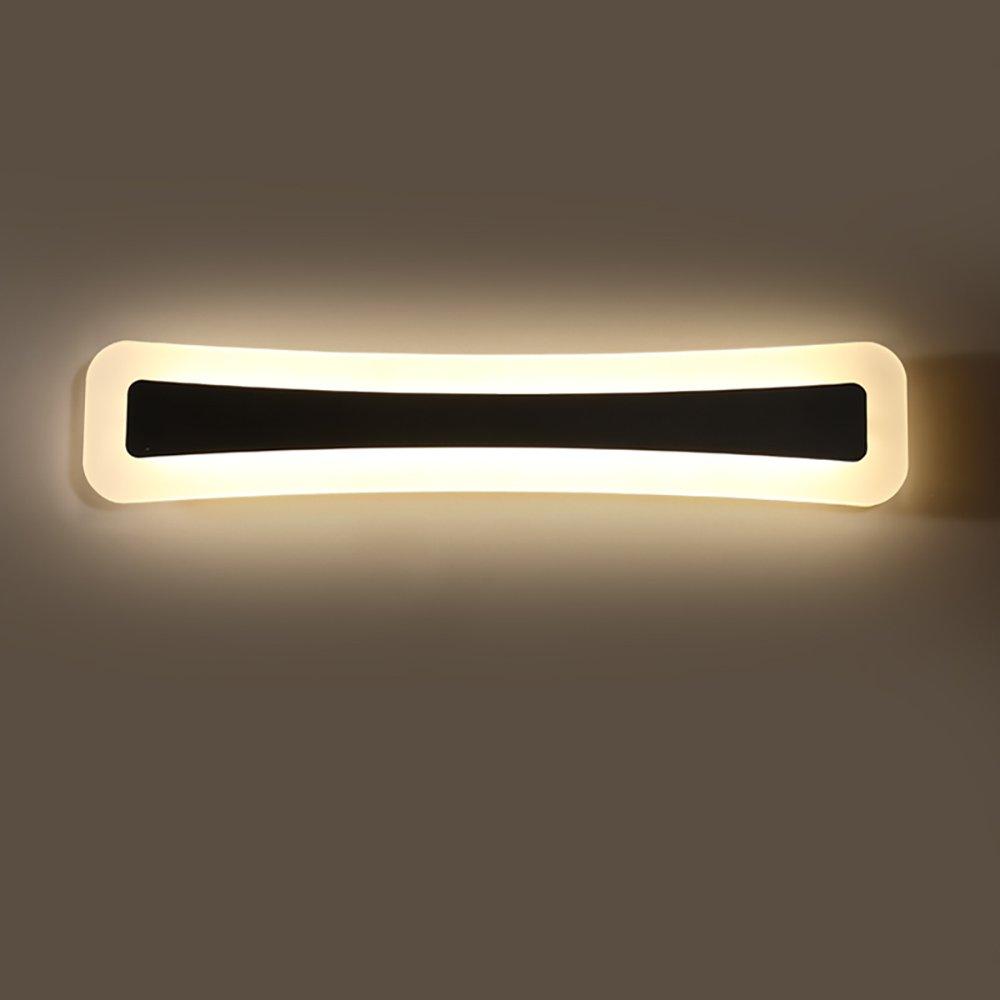 LJHA jingqiandeng アクリルLED防水ミラーフロントライトバスルームトイレアンチ霧ランプドレッシングテーブルミラーランプ (色 : 暖かい光, サイズ さいず : 100CM-42W) B07L3YXD3D 80CM-32W|暖かい光 暖かい光 80CM-32W
