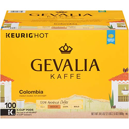Gevalia Colombian Medium Roast Coffee Keurig K Cup Pods (100 Count) ()