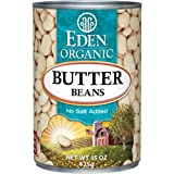 Eden Organic Butter Beans, No Salt Added, 15 Ounce (Pack of 12)