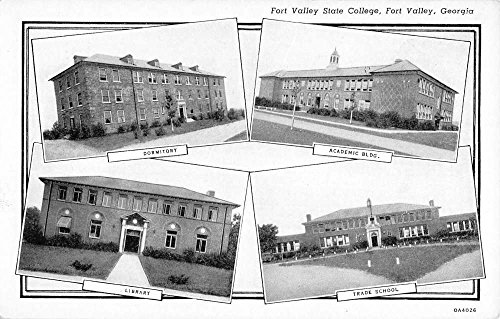 Fort Valley Georgia State Collehe Multiview Antique Postcard K41523