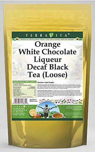 Orange White Chocolate Liqueur Decaf Black Tea (Loose) (8 oz, ZIN: 540132) - 2 Pack
