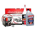 Harley Davidson FLH Complete Box of Lube with K&N Motorcycle Oil Filter and Lucas 20w-50wt