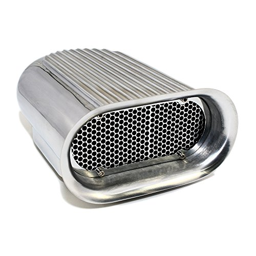 Air Scoop Kit - Assault Racing Products A8002-3 Polished Aluminum Hilborn Style Finned Hood Air Scoop Kit - Single 4 BBL Carb