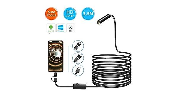 MDYHJDHYQ Boroscopio Endoscopio USB de la cámara HD 1944P ...