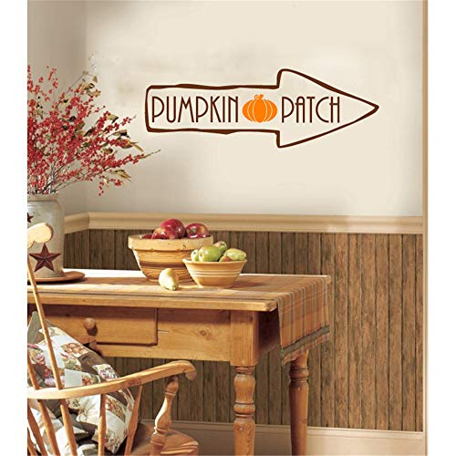 Vinyl Removable Wall Stickers Mural Decal Halloween Decoration Wall Sticker Pumpkin Patch for Kitchen Dining Room ()