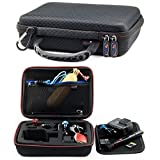 Small Action Camera Carrying Case Suitable For GoPro HERO FUSION Akaso EK7000 Brave 5 4 Apeman EKEN H9R Fitfort Crosstour Campark ACT74 ACT76 Davola Dragon Touch Jeemak YI 4K Cam (7 x 6 x 2.5 Inches)