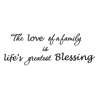 Amazon ZSSZ The Love Of A Family Is Life's Greatest Blessing Beauteous Lifes Great Quotes