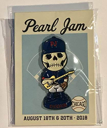 Pearl Jam pin chicago wrigley field 2018 tour baseball skull enamel pin new pj ()