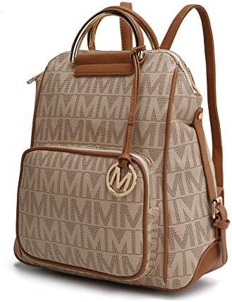 Mia Okay Collection PU Leather Backpack Purse for Women & Teen Girls - Ladies Fashion Travel - Big Bookbag Top-Handle