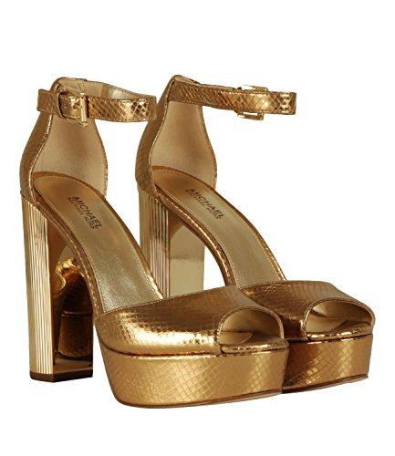 Zapatos Tacon Michel Kors Dorados