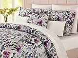 Nicole Miller 5-Piece Luxury KING All Season Comforter Set | Luscious Water Color Floral Blooms | 100% Cotton 300TC