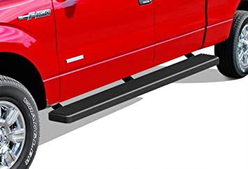 APS Premium 4 Black iBoard Running Boards Fit 09-14 Ford F150 SuperCrew Cab