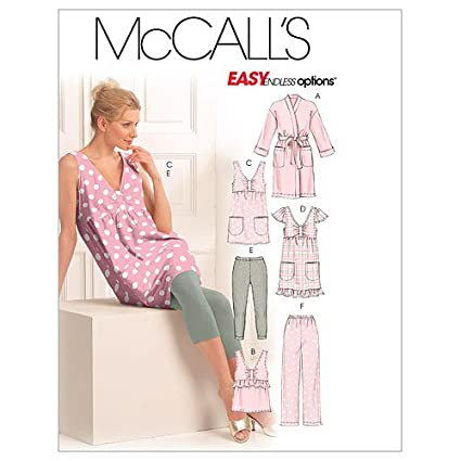 4d1fc6f14196 Image Unavailable. Image not available for. Color: McCall's Patterns M5769  Misses' Robe ...